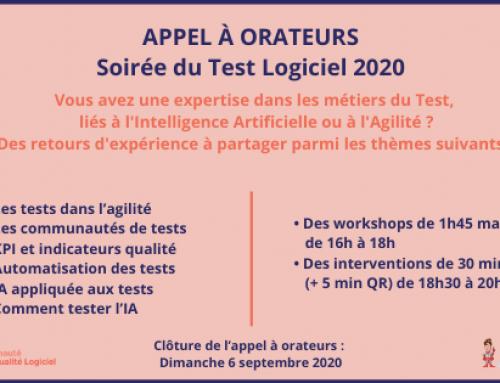 Soirée du test logiciel 2020 : Appel à orateurs
